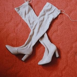 Chinese Laundry faux suede over the knee boot